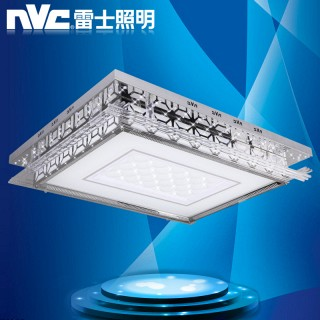 【区间价】高端led吸顶灯卧室长方形客厅灯24w