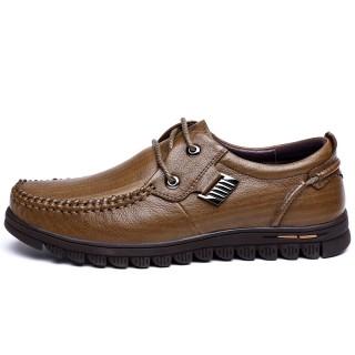 【木林森男鞋】皮鞋真皮商务休闲鞋
