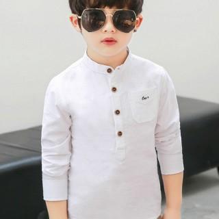 男童立领外套纯棉长袖衬衫