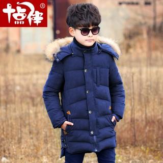儿童装男童冬装棉衣加绒加厚棉袄外套