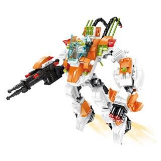 乐博士高达变形机器人积木玩具