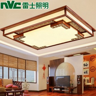 新中式客厅木艺吸顶灯