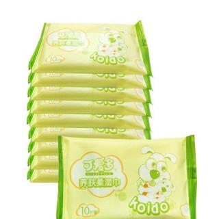 10片10包可爱多婴儿养肤柔湿巾